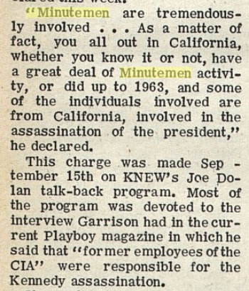 The JFK and MLK assassinations Garr10