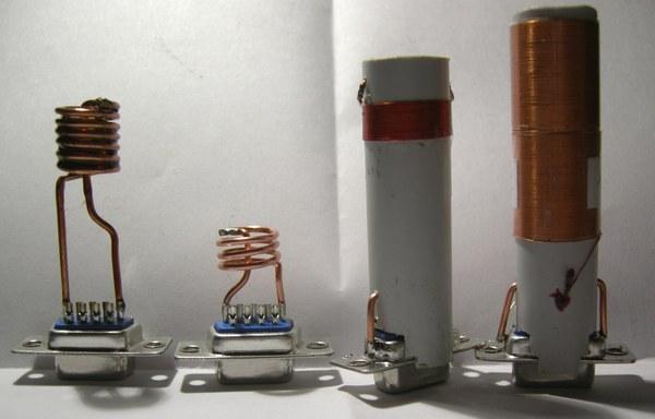 Réalisation d'un Grid Dip Oscillator (GDO) à tube. Les inductances Dscn4910