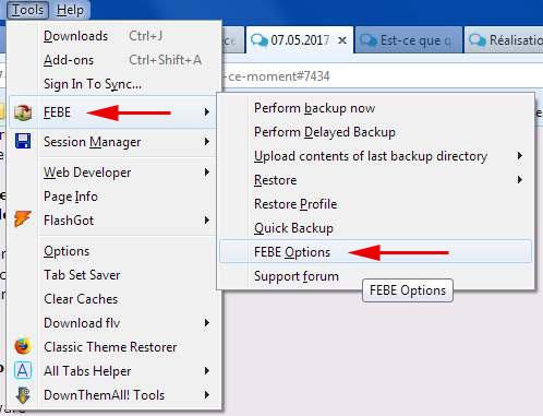 Tuto sur l'utilisation de FEBE pour sauvegarder vos signets (Firefox uniquement) Febe_110