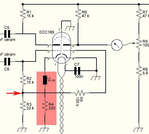 Réalisation d'un Grid Dip Oscillator (GDO) à tube. premières mesures avant modification Jeter10