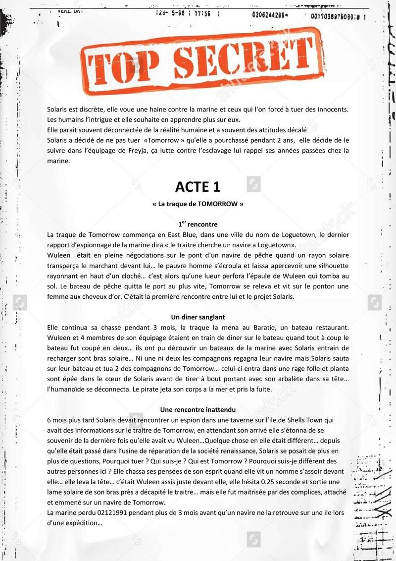 TOP SECRET Projet Solaris !  Projet24