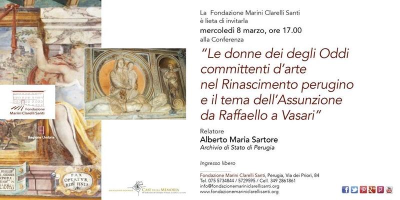 """Conferenza su """"Le donne degli Oddi committenti d'arte nel Rinascimento"""" 16998910"""