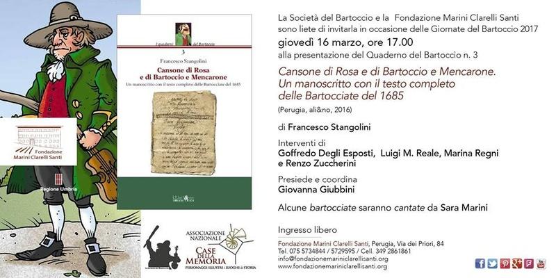 Presentazione del Quaderno del Bartoccio n.3 17190510