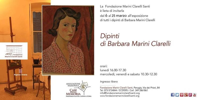 Esposizione dipinti di Barbara Marini Clarelli Locand10