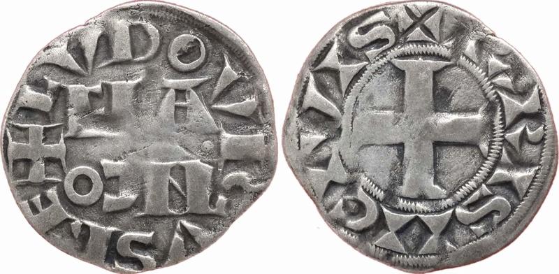 Denier parisis 4ème type Louis VII le Jeune. Receiv11