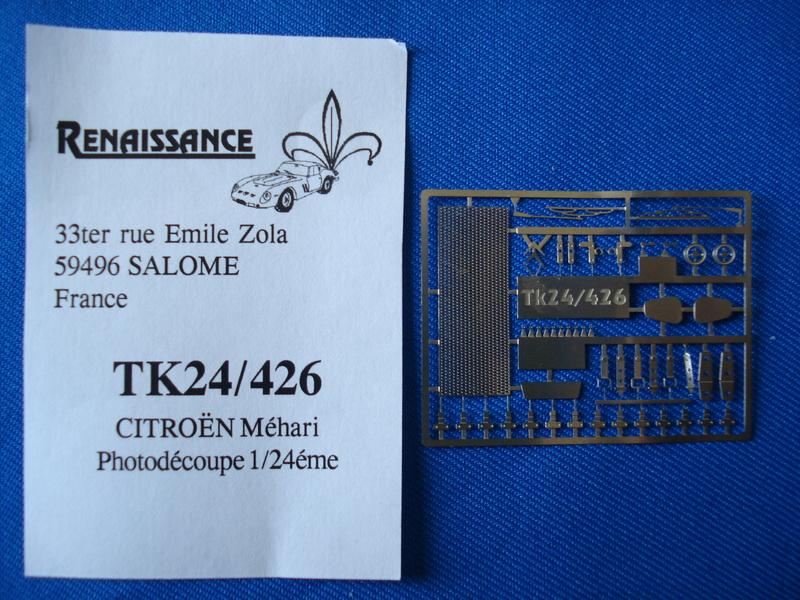 [RENAISSANCE] Set de détaillage CITROËN MEHARI 1/24ème Réf TK24/426 (photodécoupe), TK24/421 (les gendarmes) et TK24/429 (set d amélioration) Dsc06442