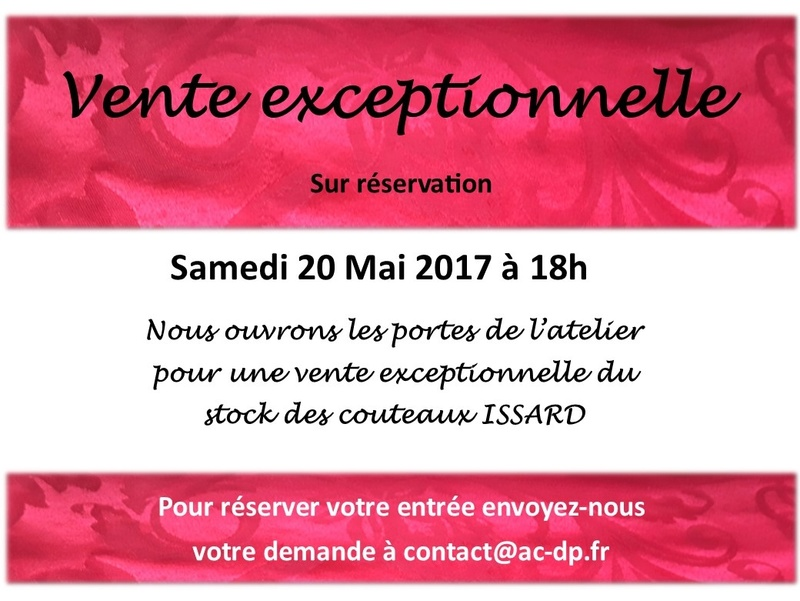 Vente exceptionnel couteaux ISSARD Vipiss10