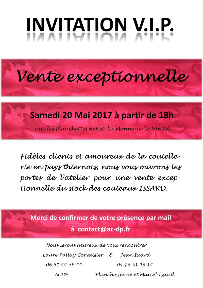 Vente exceptionnel couteaux ISSARD Vipiss11
