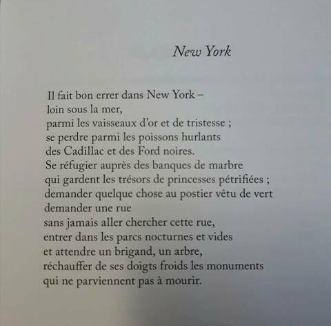 Textes Sur New York