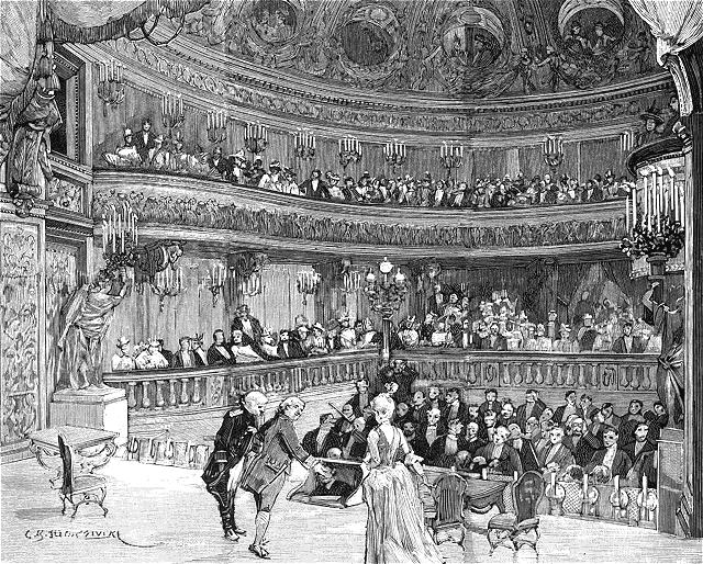 Le Devin du Village, de Jean-Jacques Rousseau, Théâtre de la reine au Petit Trianon 001b1010