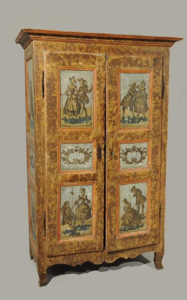 La marqueterie de papier XVIIIème, ou Arte Povera 004110