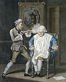 Perruques et  boîtes à perruques au XVIIIe siècle 4ef58110