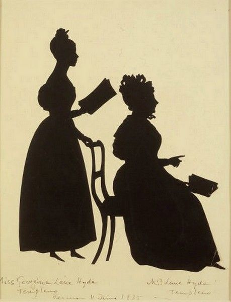 """silhouette - L'art du  """" Portrait en Silhouette """" ou """" à la silhouette """" 54de0910"""