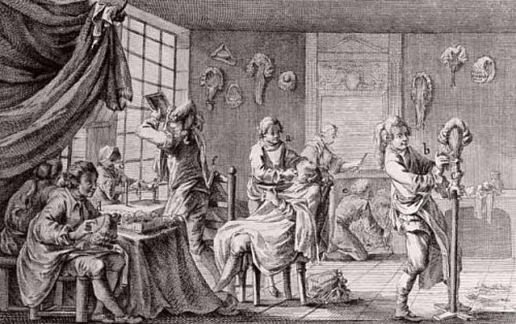 Perruques et  boîtes à perruques au XVIIIe siècle Artfic10