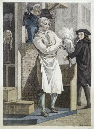 Perruques et  boîtes à perruques au XVIIIe siècle D69dff10