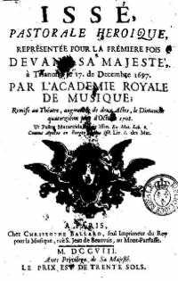 Issé, pastorale héroïque de André Cardinal Destouches Isse_f10