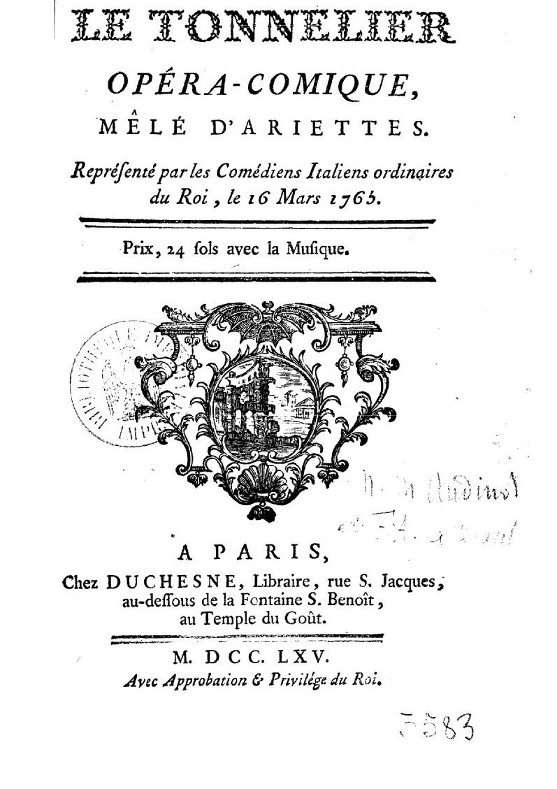 Le Petit Théâtre de Marie-Antoinette à Trianon - Page 4 Le_ton10