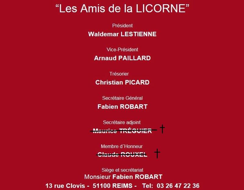 """l'Association """"les Amis de la Licorne"""" 01410"""