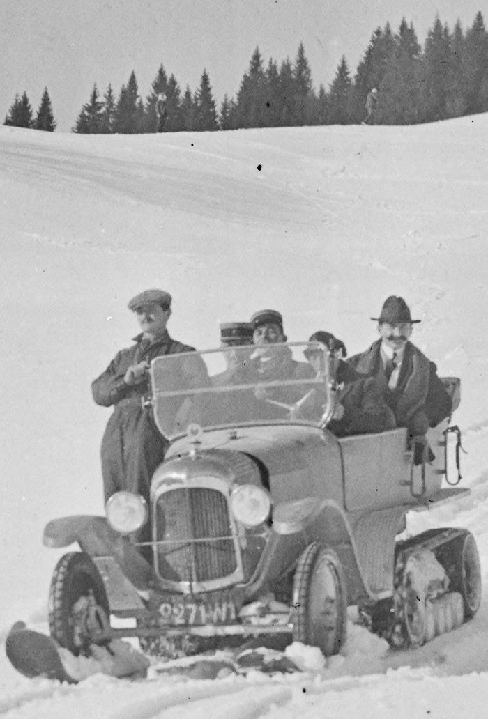 Concours de voitures à neige au Col du Sappey le 9 Février 1922 1019