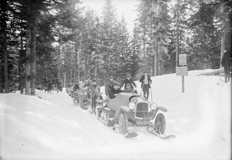 Concours de voitures à neige au Col du Sappey le 9 Février 1922 1911