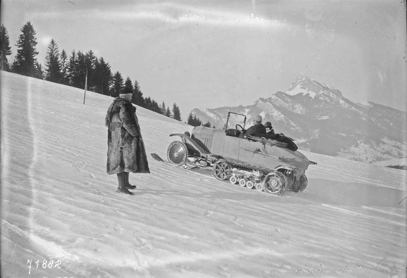 Concours de voitures à neige au Col du Sappey le 9 Février 1922 2212