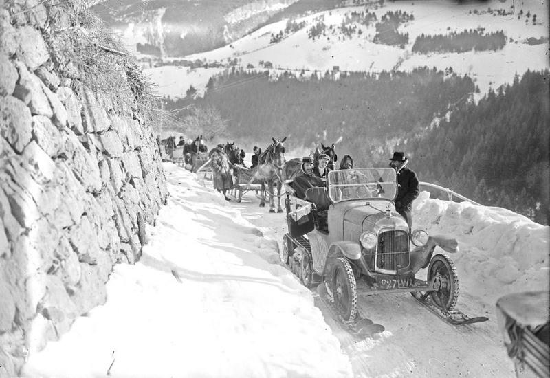 Concours de voitures à neige au Col du Sappey le 9 Février 1922 2412