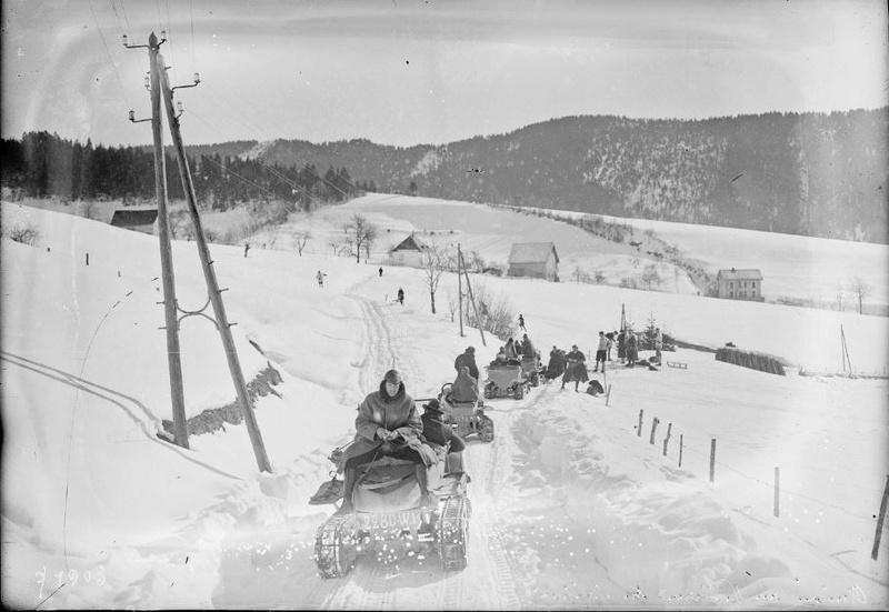 Concours de voitures à neige au Col du Sappey le 9 Février 1922 2912