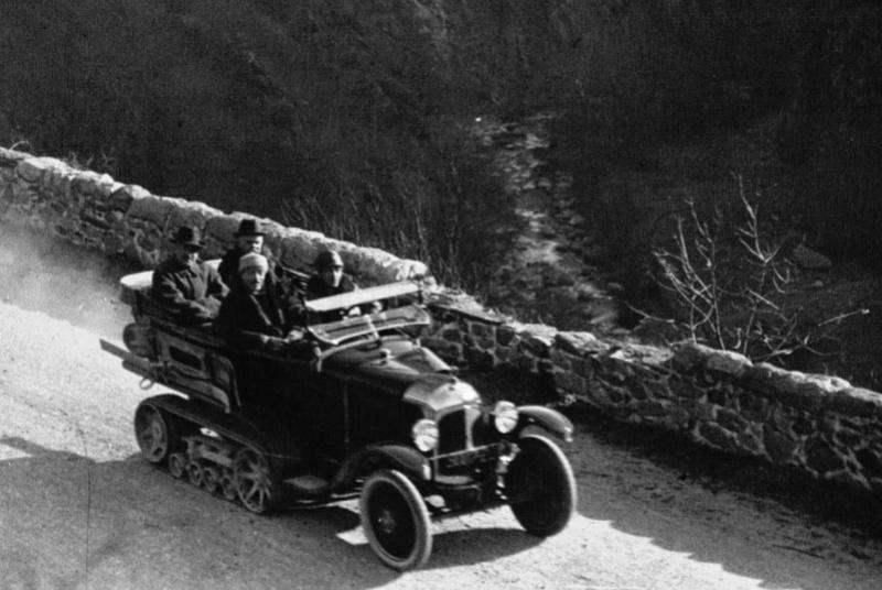 Concours de voiture à chenilles dans les Pyrénées Orientales en 1922 314
