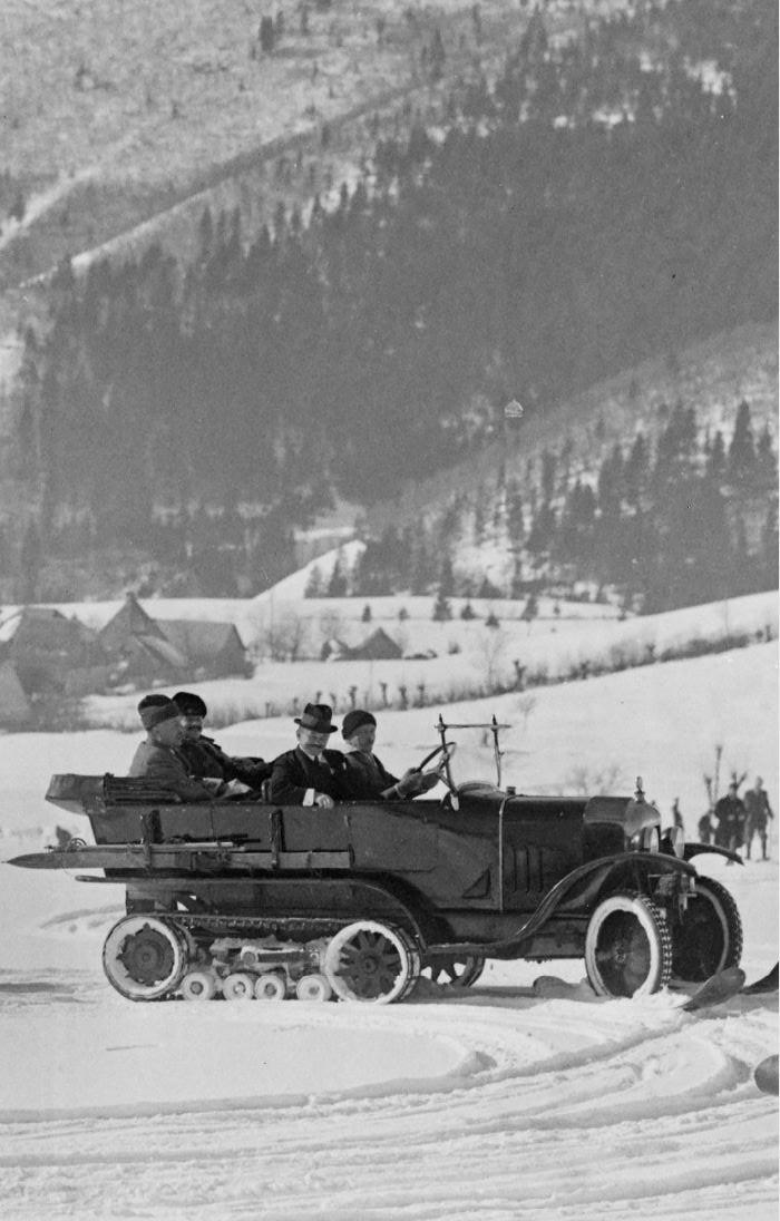 Concours de voitures à neige au Col du Sappey le 9 Février 1922 3711