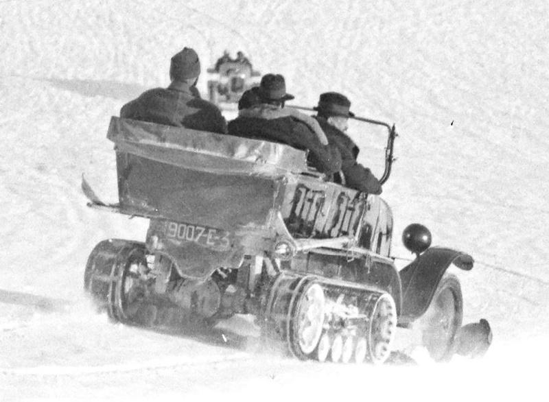 Concours de voitures à neige au Col du Sappey le 9 Février 1922 4111