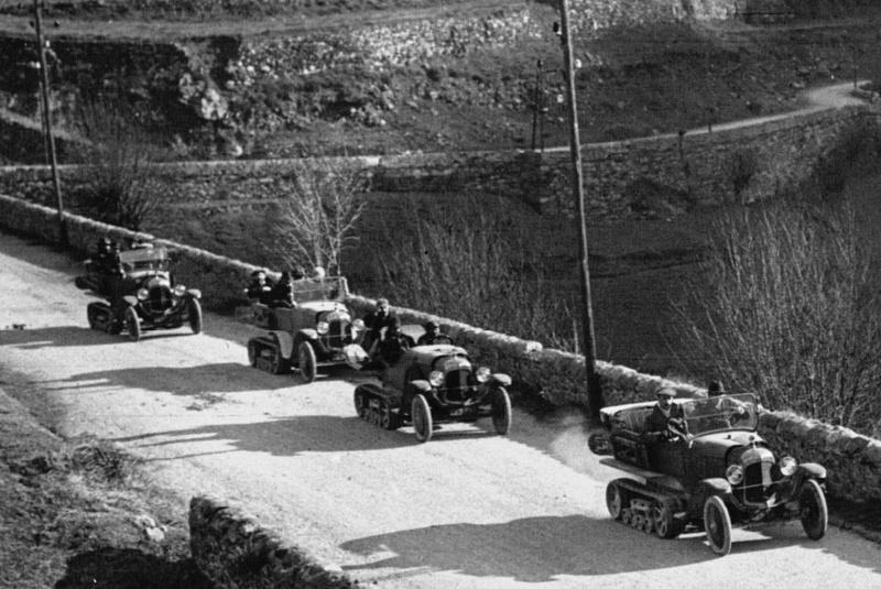 Concours de voiture à chenilles dans les Pyrénées Orientales en 1922 413