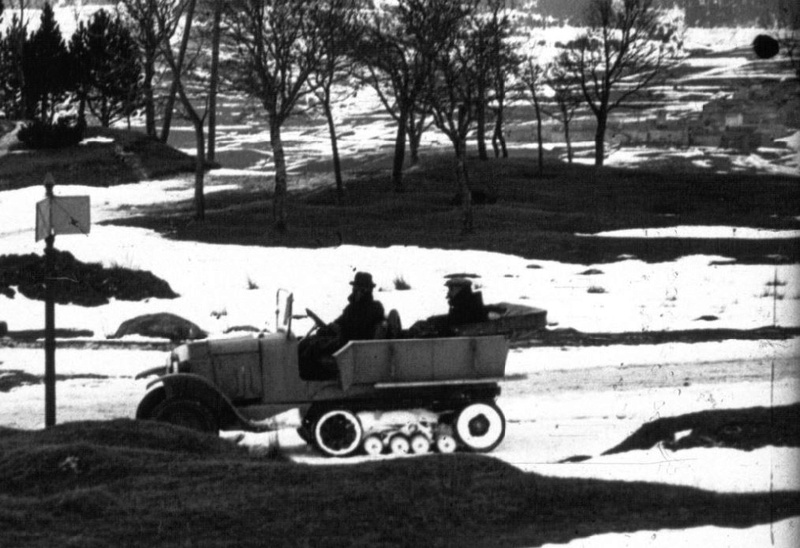 Concours de voiture à chenilles dans les Pyrénées Orientales en 1922 414
