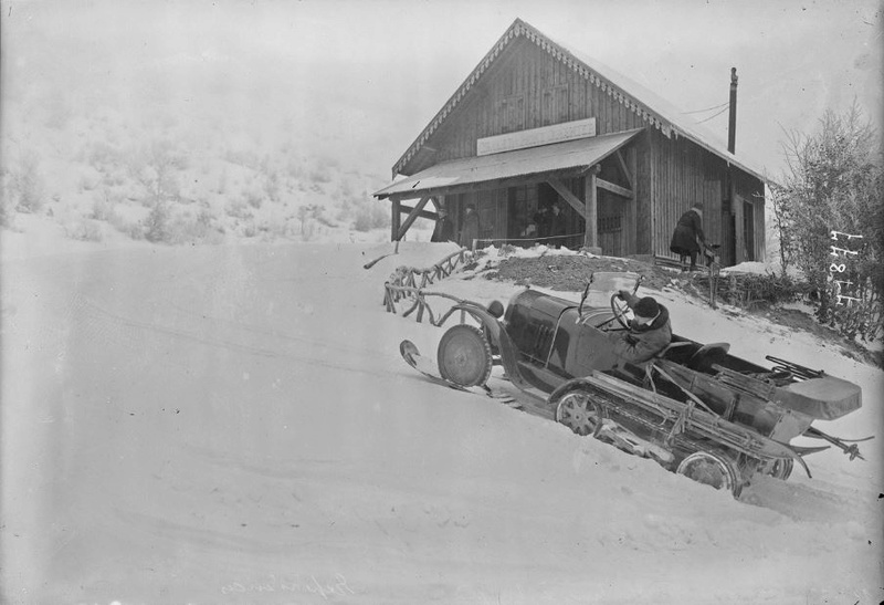 Concours de voitures à neige au Col du Sappey le 9 Février 1922 4211