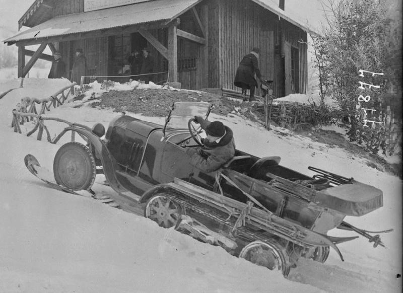 Concours de voitures à neige au Col du Sappey le 9 Février 1922 4311
