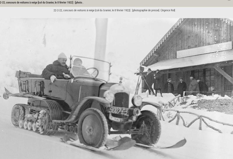 Concours de voitures à neige au Col du Sappey le 9 Février 1922 5311