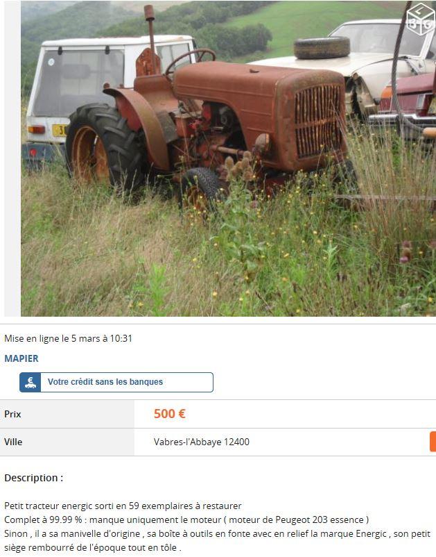 energic - tracteur energic sur leboncoin 597