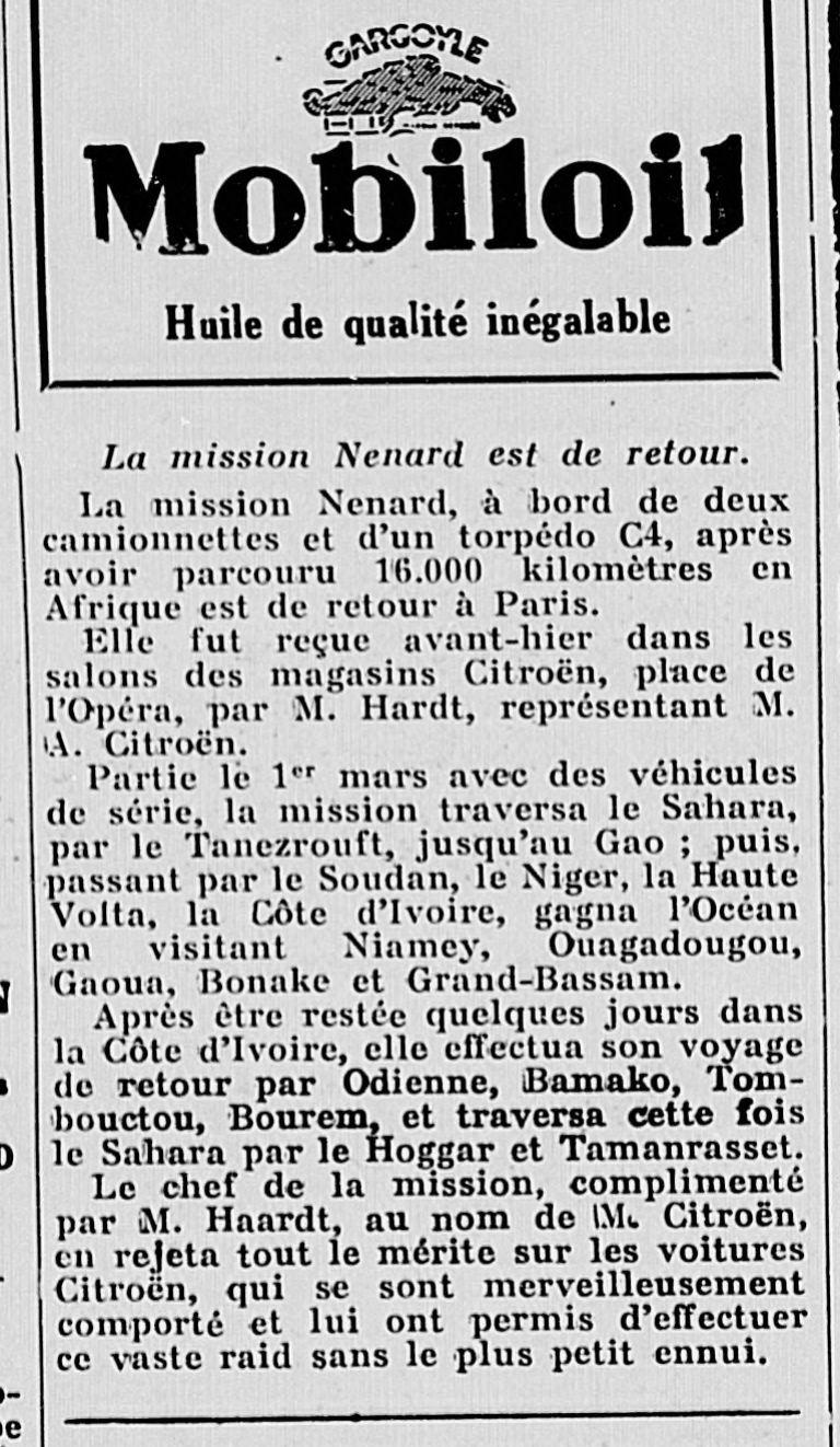 Des Utilitaires C4 en Afrique en 1930 = mission Nenard Export12