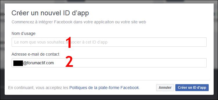 Configurer et utiliser Facebook Connect sur son forum Fb210