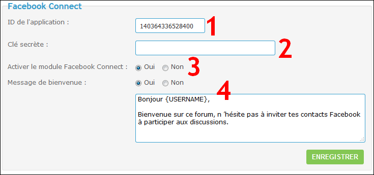 Configurer et utiliser Facebook Connect sur son forum Fb6-110