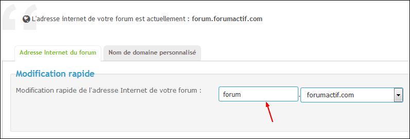 Modifier l'adresse Internet de votre forum Tuto110