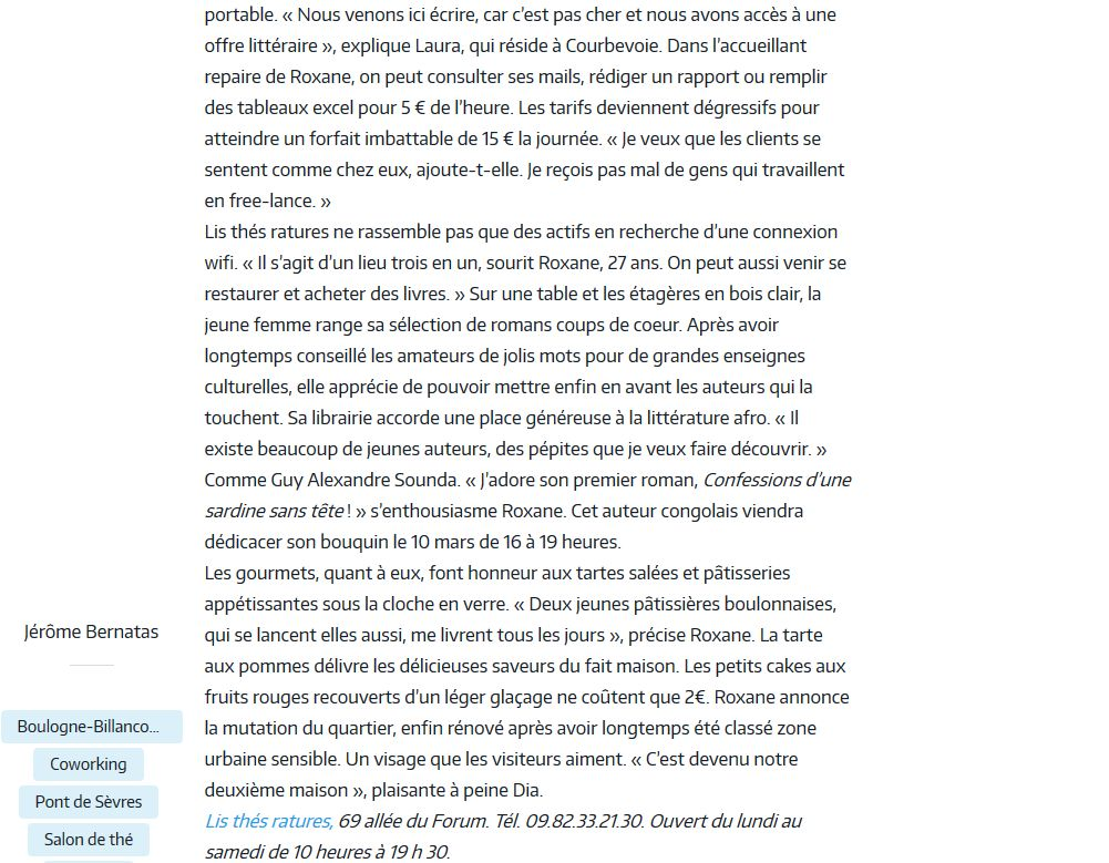 Espace de coworking Lis thés ratures Clipb109