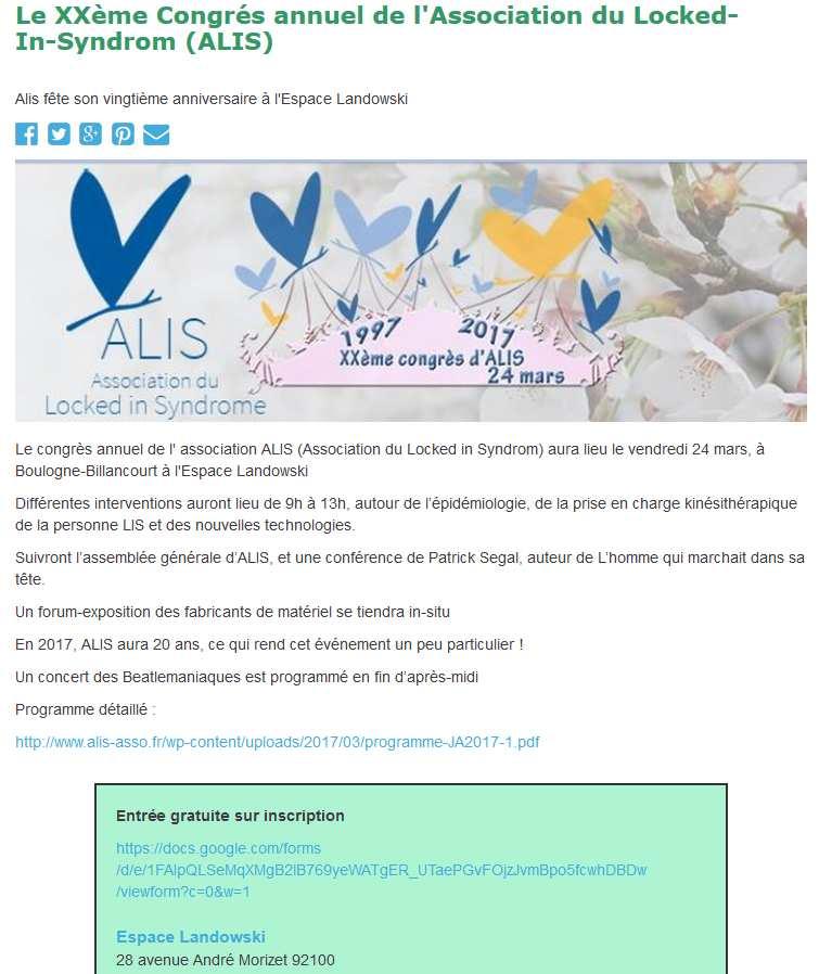 Association du Locked-in Syndrome (ALIS) Clipb179