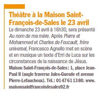 Evènements proposés par la Maison Saint François de Sales Clipb279