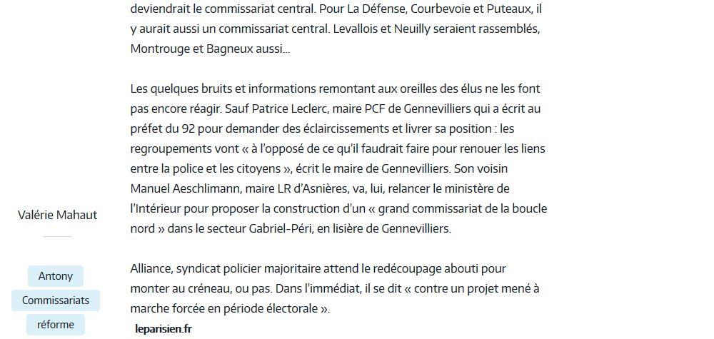 Commissariat de Boulogne-Billancourt Clipb338