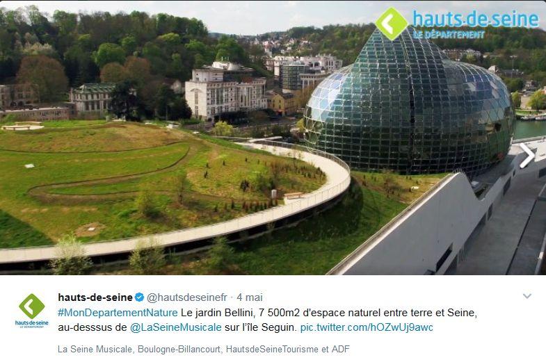 La seine musicale de l 39 le seguin - Castorama deco jardin boulogne billancourt ...