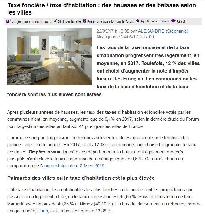 Taxe Foncière et Taxe d'habitation Clipb686