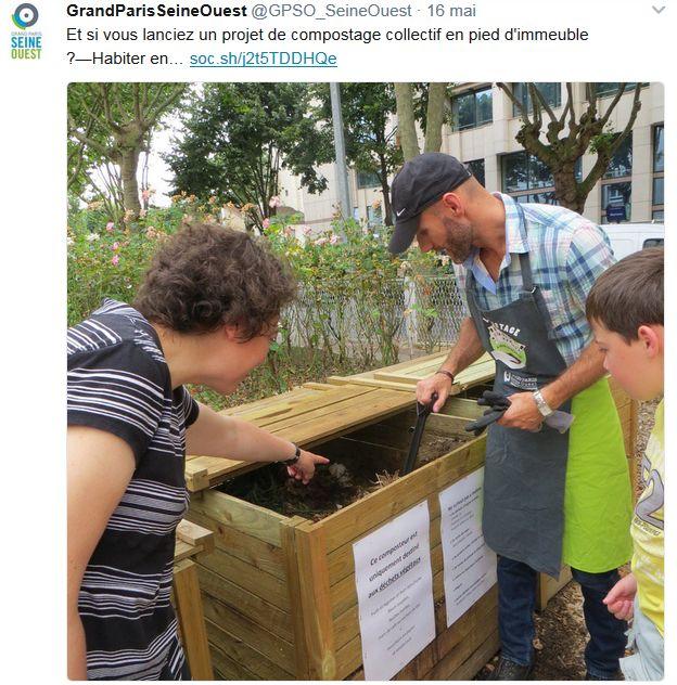 Gestion des déchets verts dans le quartier - Compost - Compostage Clipb703