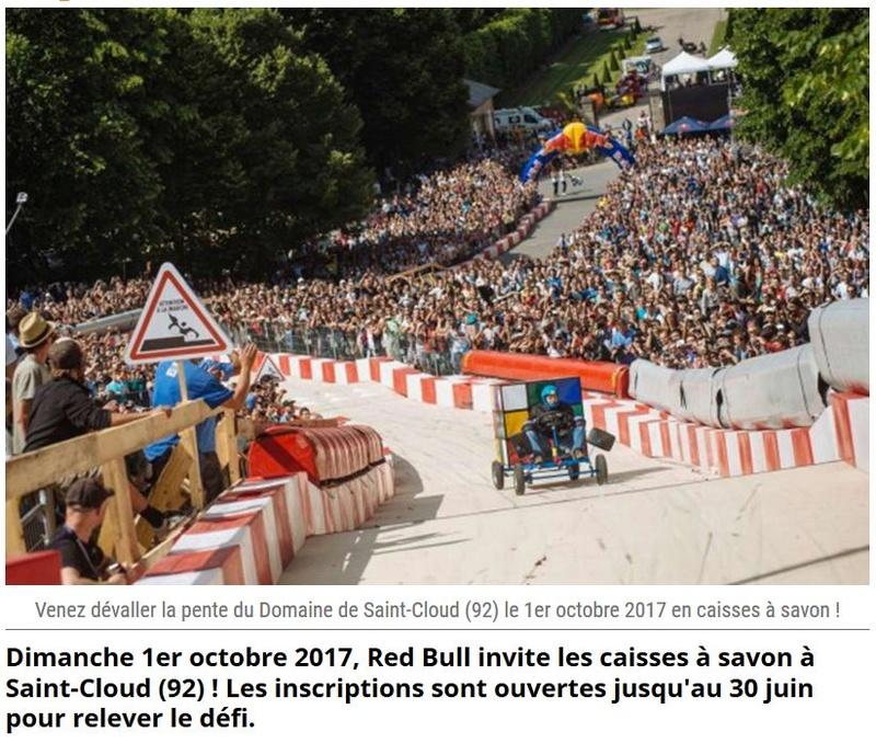 Red Bull Caisses à Savon à Saint Cloud  Clipb737