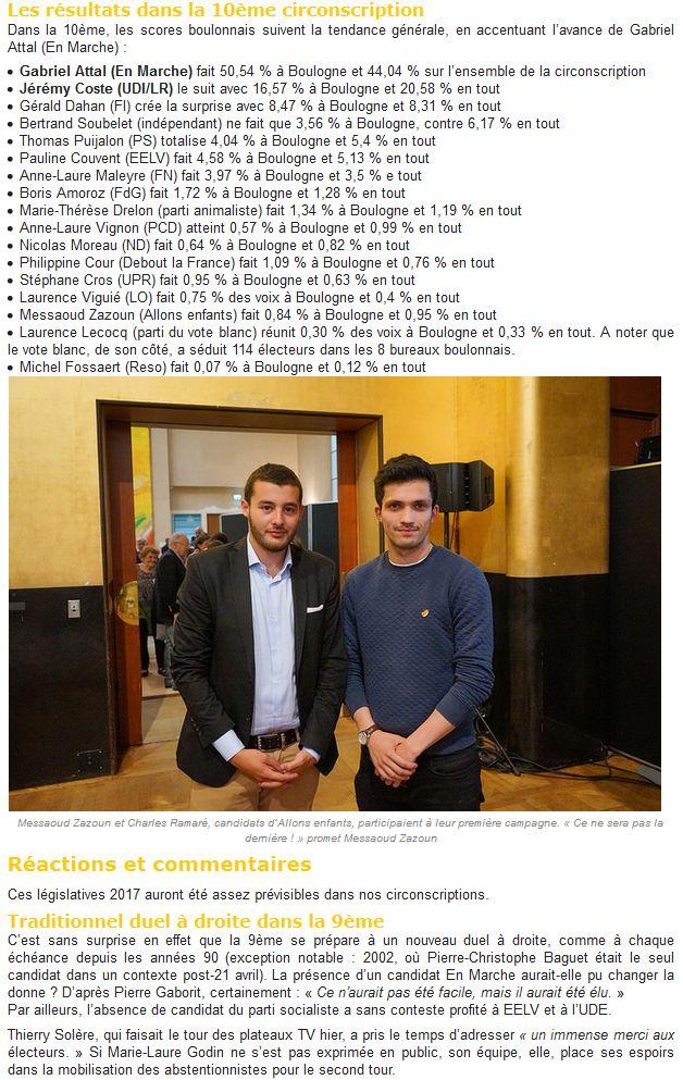 Elections législatives à Boulogne-Billancourt  Clipb797