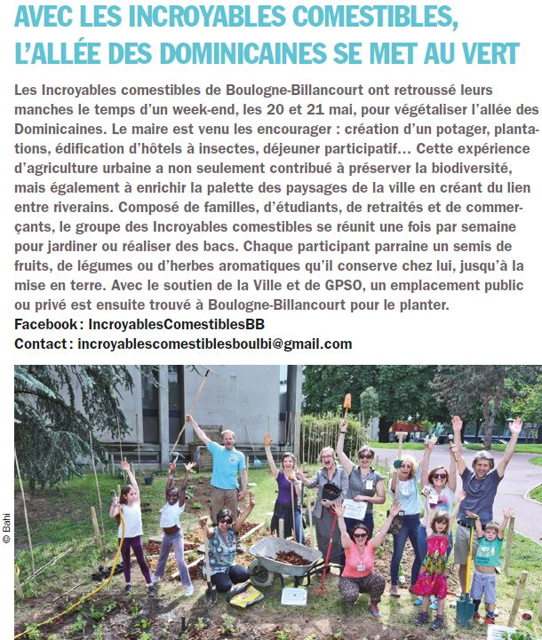 Incroyables Comestibles de Boulogne Billancourt  Clipb811